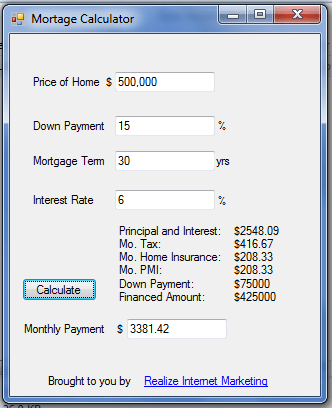 mortgage calculator download
